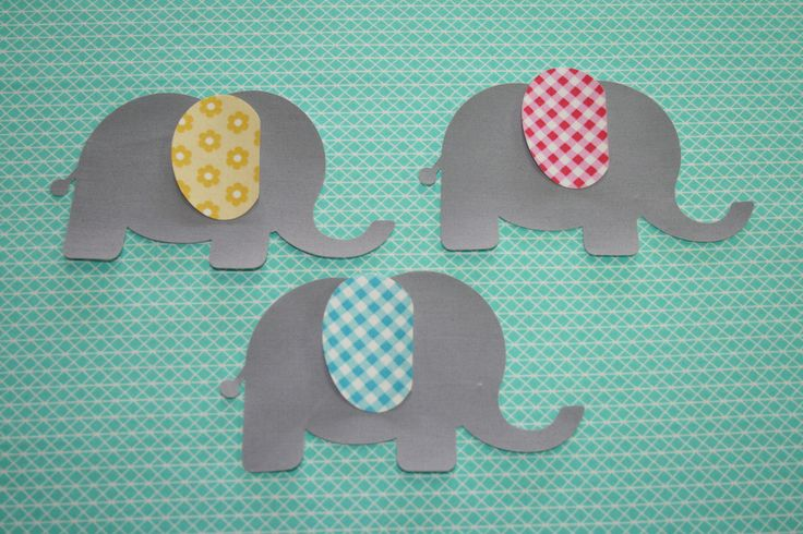 """Fab Shapes 3"""" Elephants"""