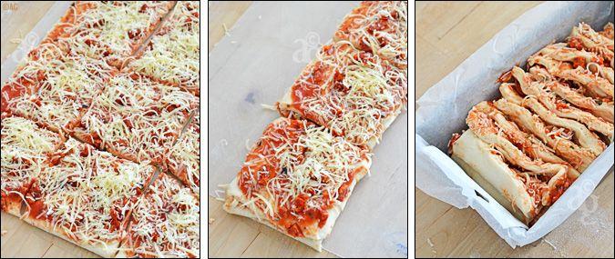 pizza à effeuiller - détails