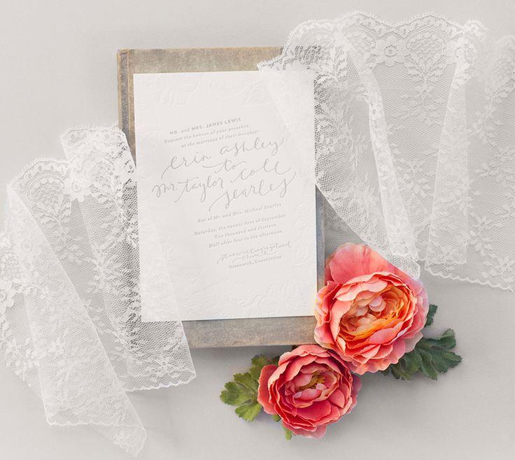 Erin And Tayloru0027s Romantic Blush And Grey Wedding Invitations | Coral  Pheasant, Photo By Athena