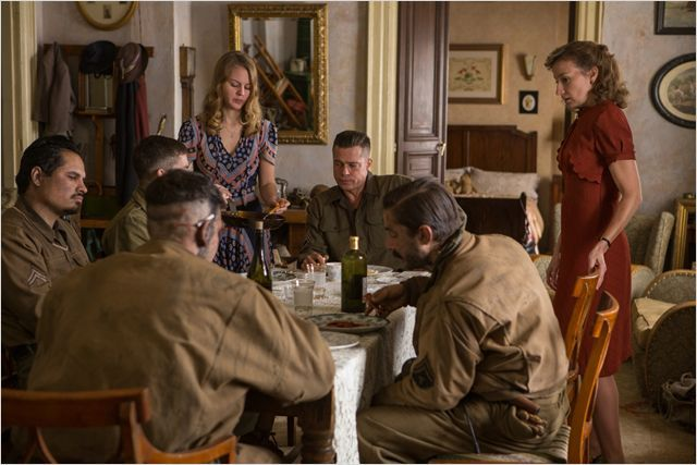Fury : Photo Alicia von Rittberg, Brad Pitt, Logan Lerman, Michael Peña, Shia LaBeouf