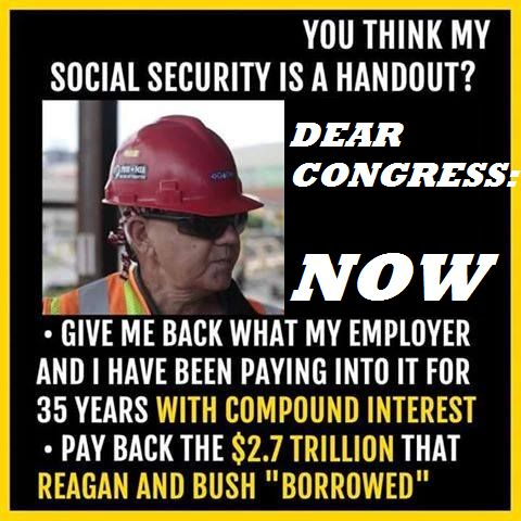 Crooked Donnie+Repukkes now look to cut Seniors EARNED BENEFITS...to give Tax Cuts to the Wealthy!!!