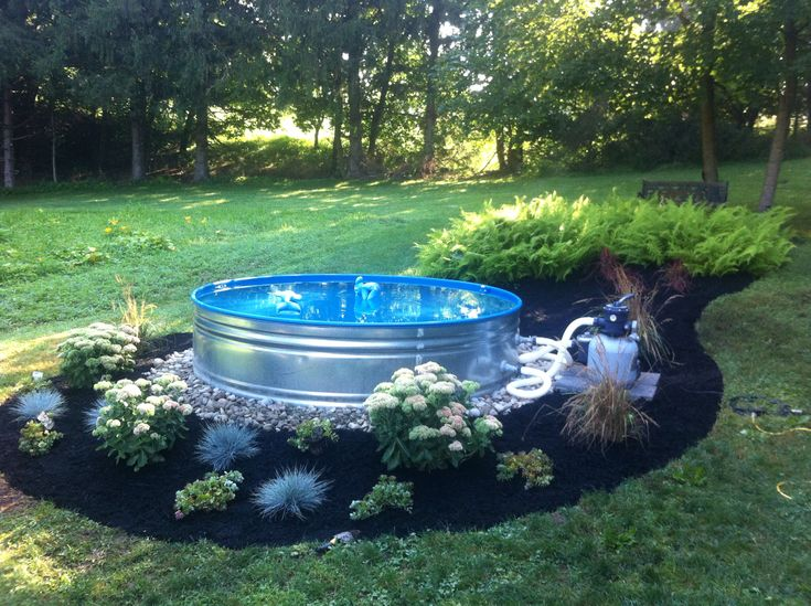 Galvanized steel stock tank mini pool