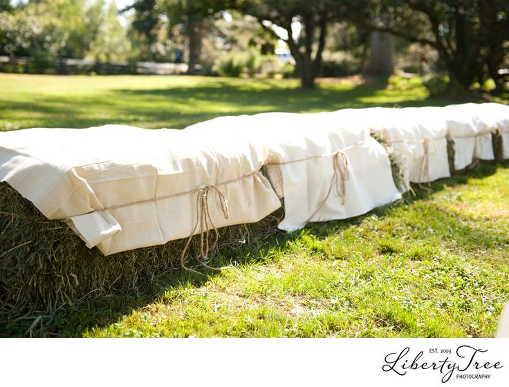 Hay Bale Covers For Seating - Velcromag