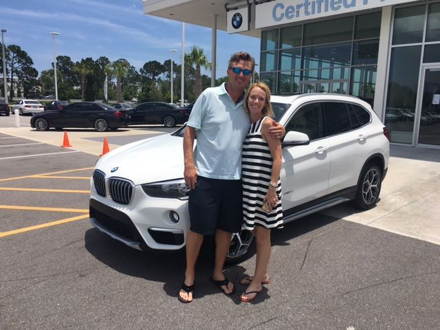 Congratulations to Mr. and Mrs. Gettemy on taking delivery of their new #BMW #X1 with Jack Adams at #FieldsBMW in #DaytonaBeach. #FieldsBMW #BMW