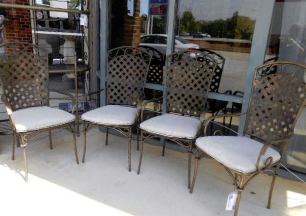 Set Of 4 Upholstered Patio Chairs #Transitional