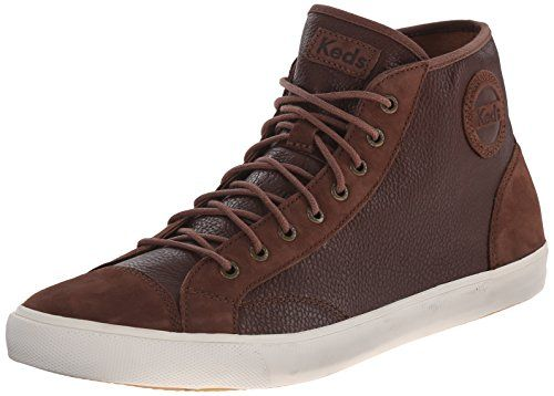 Keds Men's Vintage Roster Hi Lace-Up Sneaker, Cocoa Brown, 10 M US