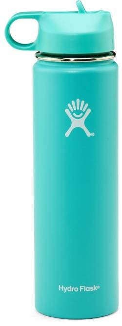 Hydro Flask Wide-Mouth Vacuum Water Bottle with Straw Lid - 24 oz. Mint