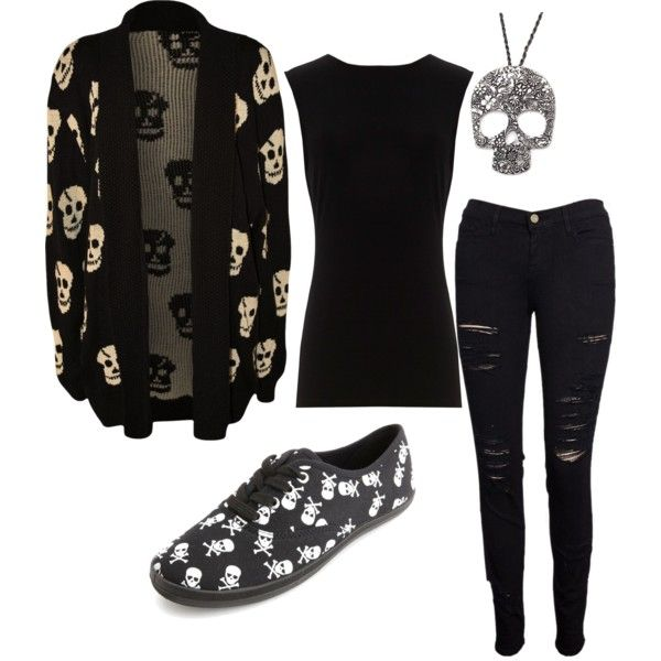"""""""skull outfit"""" by ladyluvlett on Polyvore"""