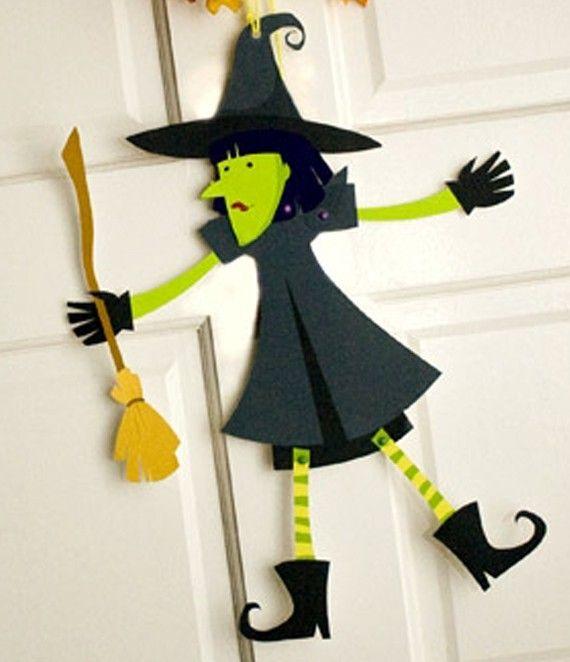 Bruja de cartulina para Halloween – Manualidades On