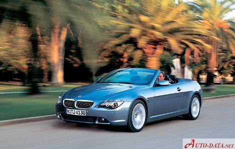 BMW 6er Convertible (E64) - check all the details for the BMW 6er Convertible for free - engine type and displacement; doors and seats; fuel type and tank volume; max.speed, co2 emissions and etc. check our image gallery for more photos of bmw  e64