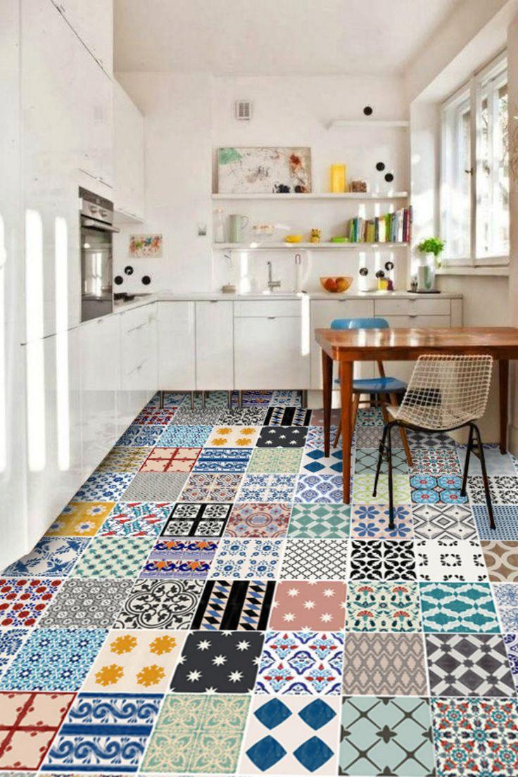 cuisine salle de bain turc iznik vinyl 24 sticker par quadrostyle - Stickers Tuile Vinyle Salle De Bain
