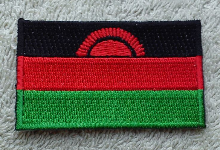 MALAWI FLAG PATCH Embroidered Badge Iron or Sew on 4.5cm x 6cm Malaŵi Africa