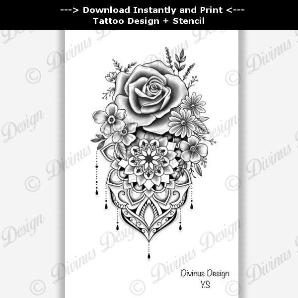 3 Hot Tattoo Trend Ornamental Design Available For Sale Floral Tattoo Tattoo Design Stencil T Tattoo Sleeve Designs Cover Up Tattoos Floral Tattoo Design