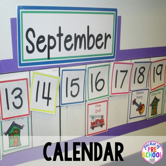 Linear Calendar Preschool : Calendar display is low at students level a linear