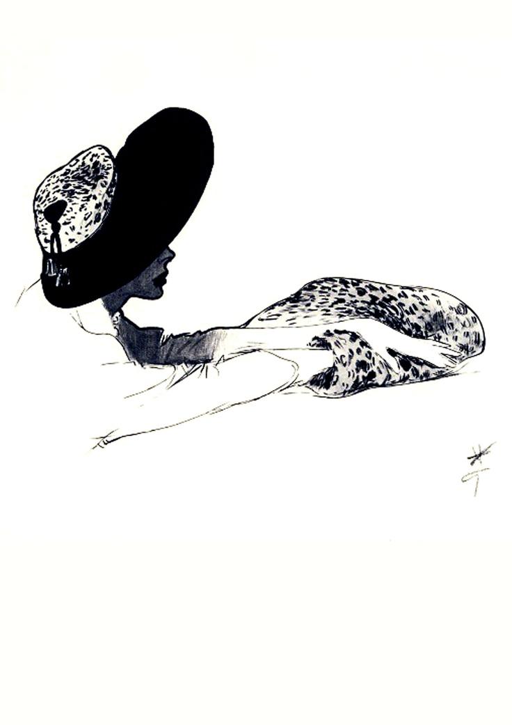 Rene Gruau Sketch.