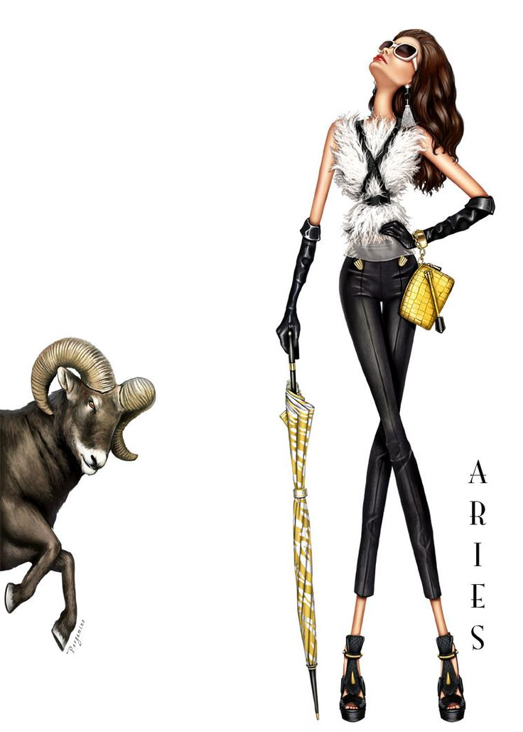 Aries - A fabulous birthday card for the girl born between March 21 & April 20th.