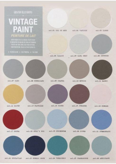Scandinavian Design Interior Paint Swatches