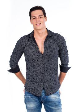 Siyah Yeni Tarz Erkek Gömlek
