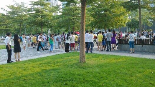 Plaza people