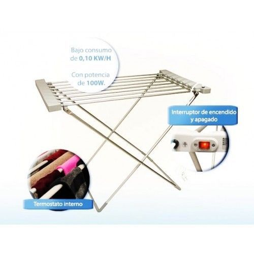 LOWElectric Heated Clothes Airer Comfy Dryer Max Clothes Horse 8 Bars AS SEEN TV #Gift idea