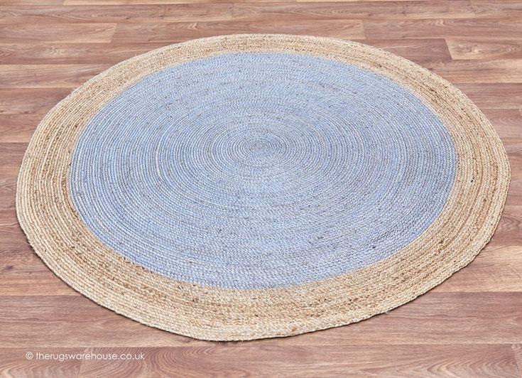 Faro Silver Circle Rug - Round Rugs
