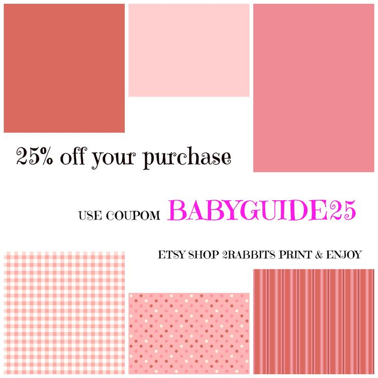 Etsy Shop #Coupon For My Practical Baby Guide Customers. 25% OFF Your  Purchase · Shower GuidesMom And DadBaby Shower GamesDiaper ...