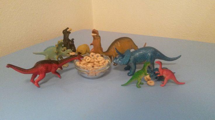 November 1, 2014: The dinos are having a Cheerio party.