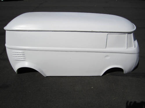 vw bus split window hot rod stroller  kart fiberglass body samba rat rod  kart rat rods
