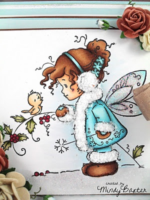 wee stamps winter fairy card