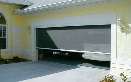 garage door screen - to keep the bugs out of the man cave