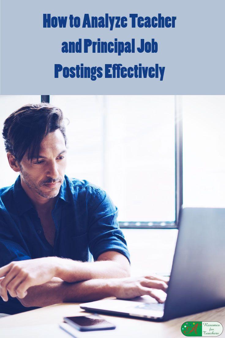 How to Analyze Teacher and Principal Job Postings Effectively via @https://www.pinterest.com/candacedavies1/