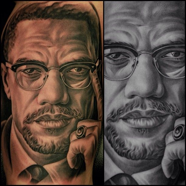 171 best images about jun cha on pinterest lady justice for Nas malcolm x tattoo