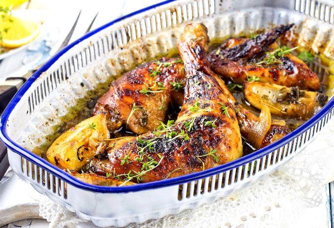 Pui la cuptor marinat în lapte bătut cu usturoi | Retete culinare - Romanesti si…