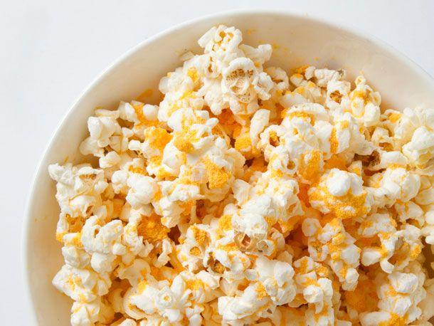 10 Fun Toppings for Popcorn -  Kraft Mac and Cheese powder (no guilt mac and cheese)