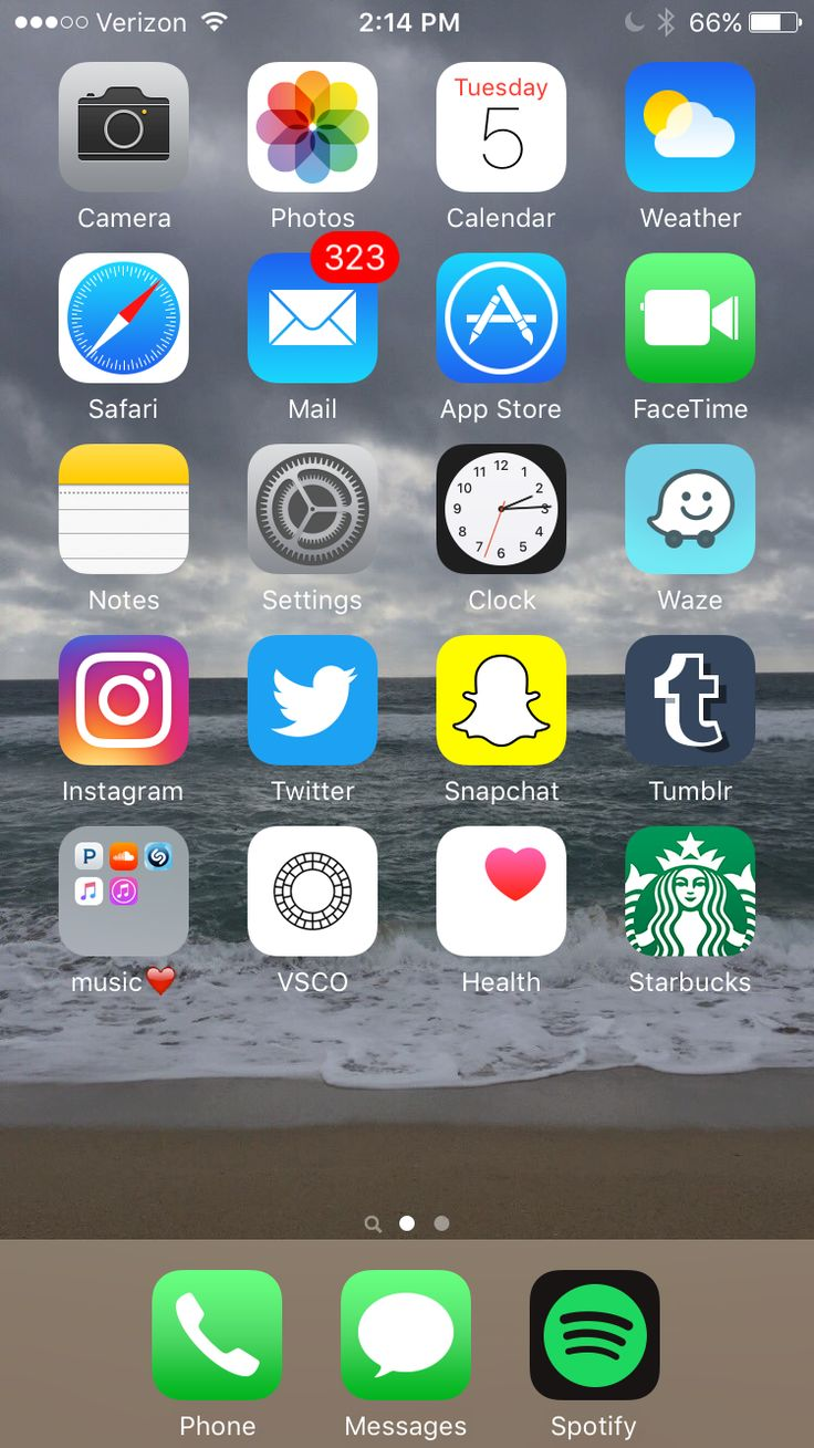 iPhone Home Screen iOS Pinterest Home, iPhone and
