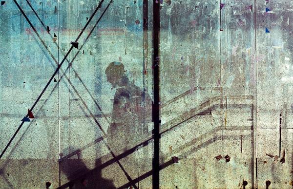 Down. From the series On Glass. © Otso Kaijaluoto.