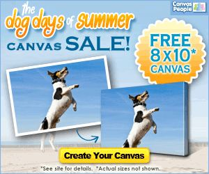 Free Photo Canvas Deal! Turn Your Favorite Pet Photo into Wall Art!