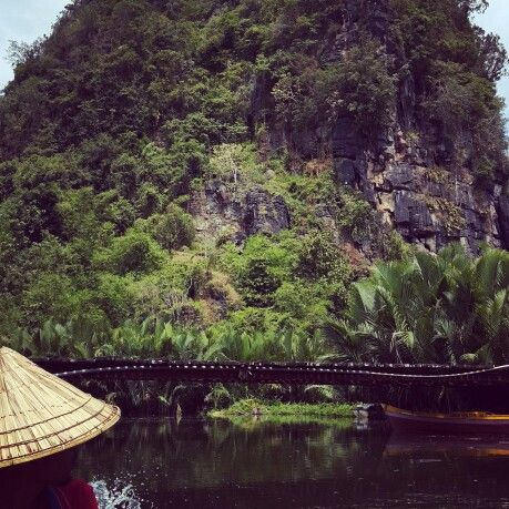Passing Pute river Karst site in Rammang-rammang, Maros city, South Sulawesi, Indonesia