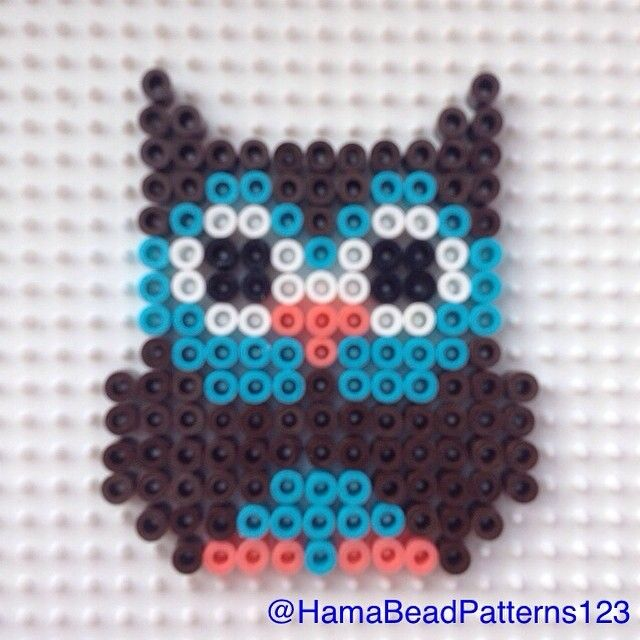 Hama bead owl by hamabeadpatterns123