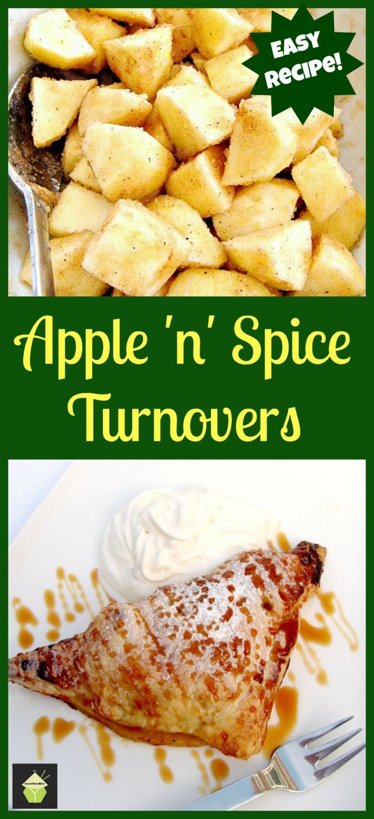 Easy Apple Spiced Turnovers. Oh so delicious! Enjoy these warm or cold ...