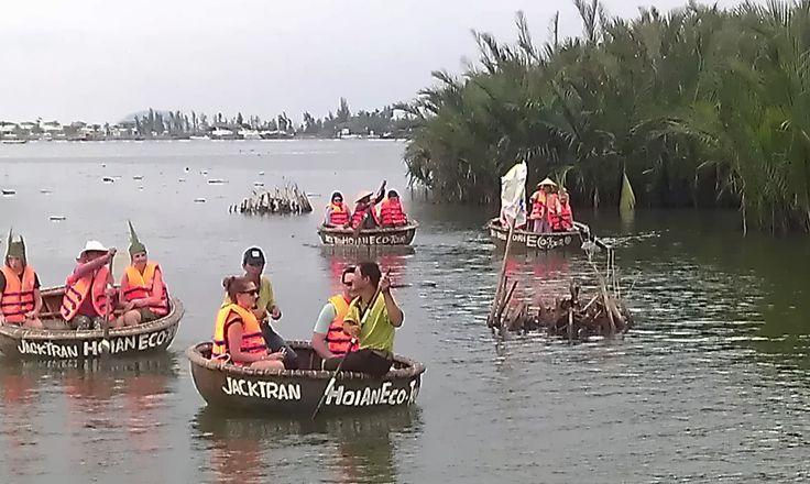 Paddling through water coconut groves. #EcoTour #VietnamSchoolTours
