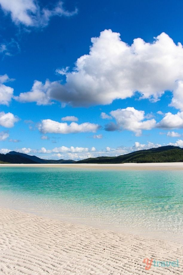 Whitehaven Beach, Queensland, Australia — by Caz and Craig @yTravelBlog. Whitehaven Beach in the Whitsunday Islands of Queensland is known for having the purest sand in the world, 98% pure...