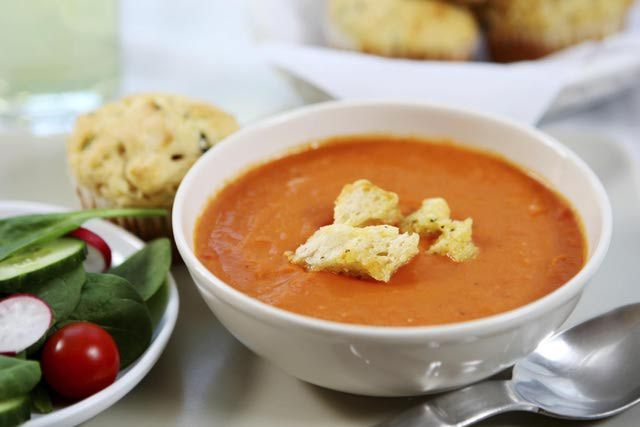 Looking for a dairy-free Cream of Tomato Soup for a light lunch or a soothing supper? This recipe is healthy, easy and dairy-free. Both brilliant in color and in flavor, this soup is sure to satisfy!