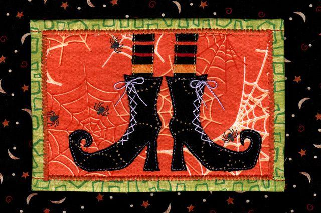 mug rug (fabric postcard)