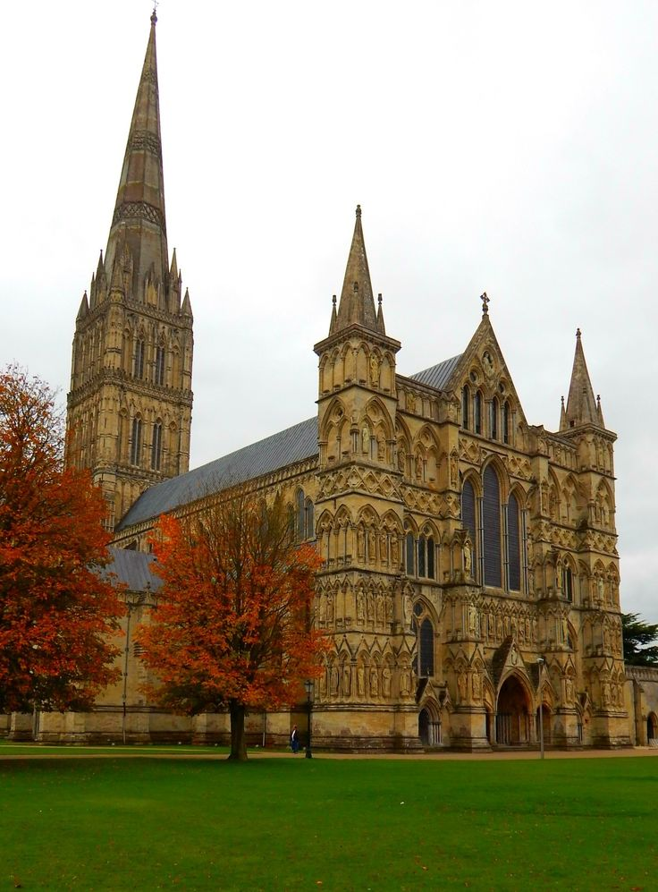 Salisbury Cathedral, Wiltshire, UK. The Tallest cathedral in Britain and famous for the Magna Carta. Have a bite at the unique and colourful Fisherton Mill Gallery and Cafe. The famousl Stonehenge is only a half hour away, and Stonehenge Tour busses depart from Salisbury every 15-20 minutes. Grab a pint at the rustic Wheatsheaf Inn.