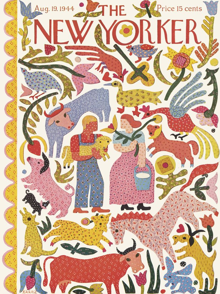 The New Yorker - Saturday, August 19, 1944 - Issue # 1018 - Vol. 20 - N° 27 - Cover by : Ilonka Karasz