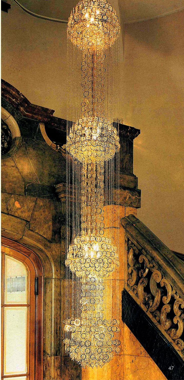 43 best chandeliers images on pinterest crystal chandeliers beautiful crystal chandelier with sparkling swarovski crystals made by faustig staircase chandelier 79200 arubaitofo Choice Image