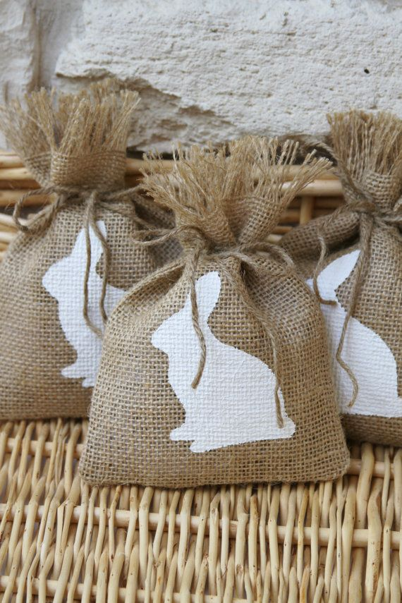 43 best conejito images on pinterest bunny candy bars and party burlap treat bags for easter perfect if you are putting together small gift bags for negle Gallery