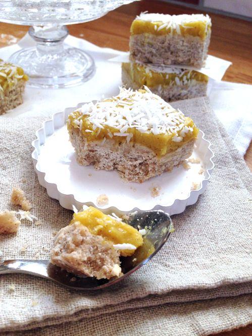 Carrés exotiques ananas coco - lait et huile de coco, farine de riz