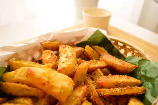 crispy healthy fries with oatmeal